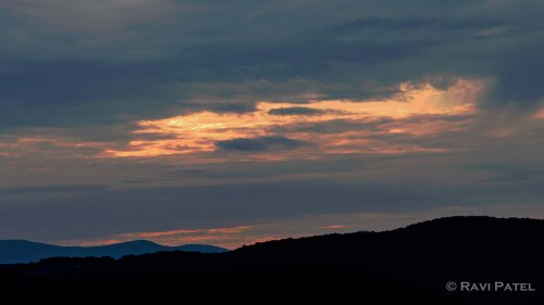 Sunset Silhouettes of the Mountains