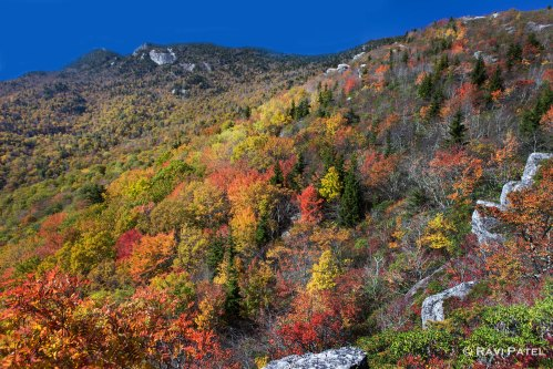 Colorful Mountains in the Fall