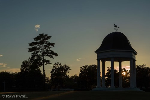 Gazebo Sunset Silhouettes