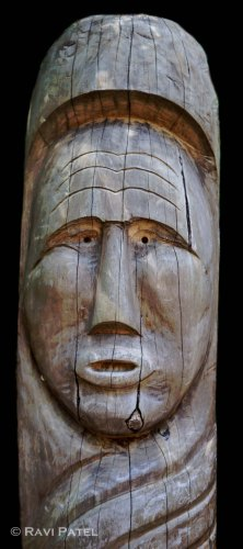 Indian Face Carving