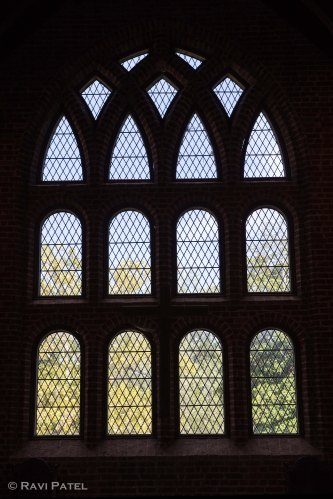 Looking through Meshed Church Windows
