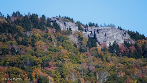 Fall Colors Around Rock Formations