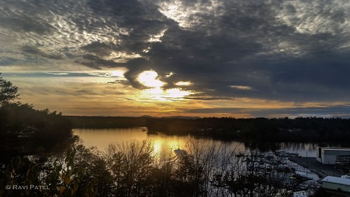 Sunset Clouds over Lake Hickory