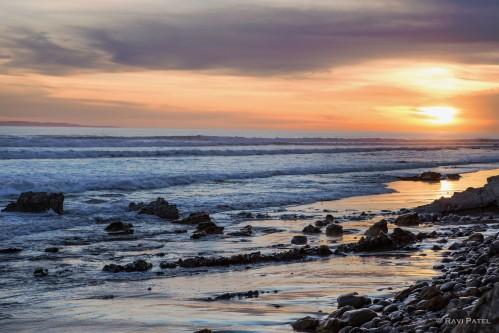 An Ocean Sunset Landscape