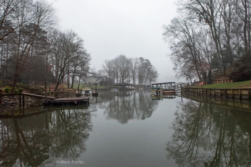 Boat Docks in the Fog