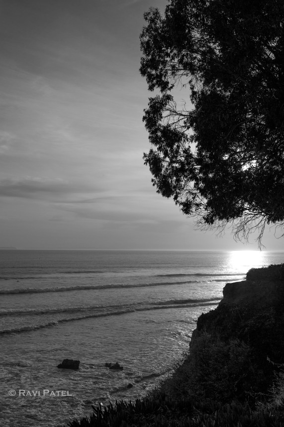 Sunset Light in Black and White