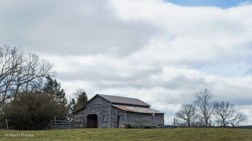 Clouds Over a Barn
