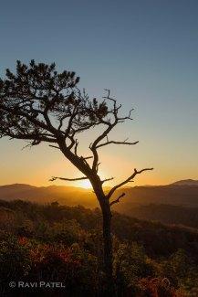 Sunset Lighting Up the Hills