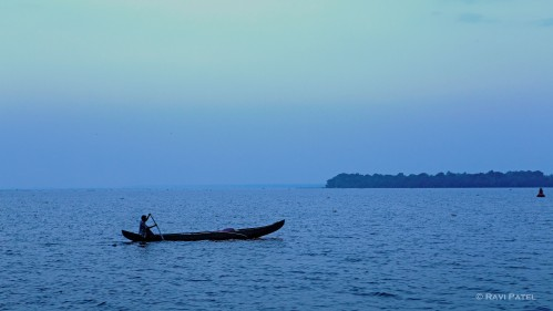 A Fisherman at Blue Hour