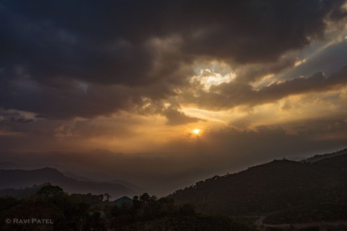 A Sunset Over the Hills