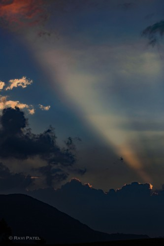 A Natural Spotlight on the Clouds