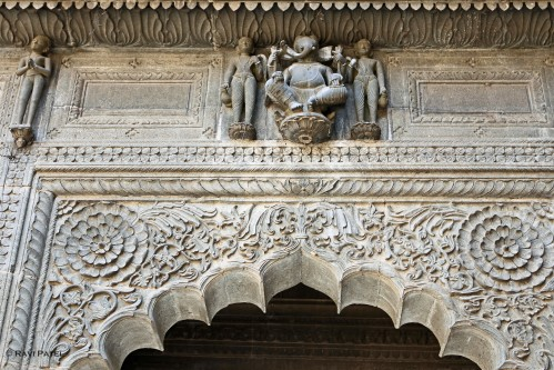 Designs over a Doorway at Ahilya Fort