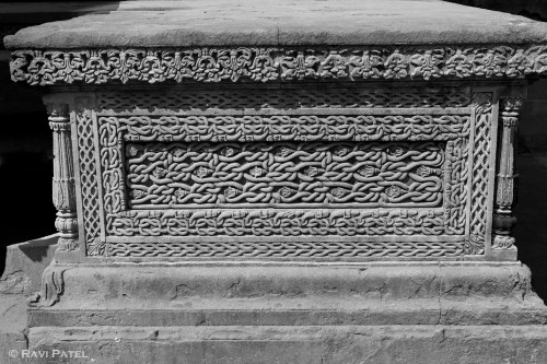 Intricate Designs in Black and White at Ahilya Fort