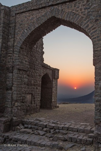 Sunset Through an Ancient Gateway