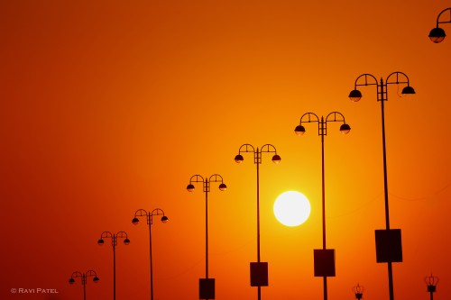 Sunset Midst Lights