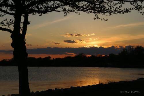 Framing a Sunset Naturally