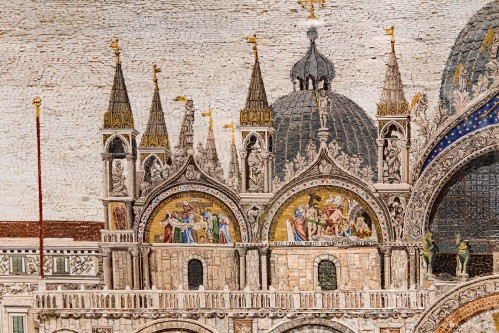 Saint Marks Basilica in Glass Detail