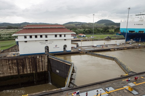 Miraflores Locks in Panama Canal
