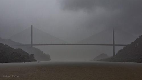 Centennial Bbridge on a Rainy Day