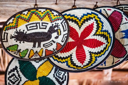 Colorful Weaved Baskets