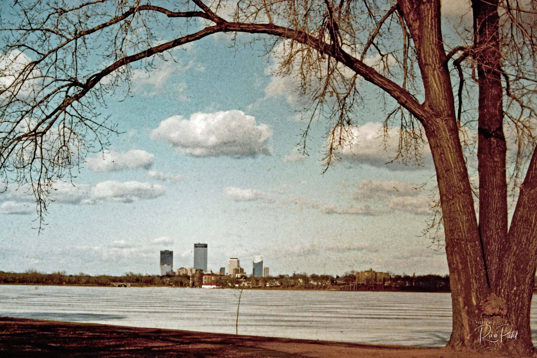 Slides to Digital – Framing the Minneapolis Skyline   Photos by Ravi
